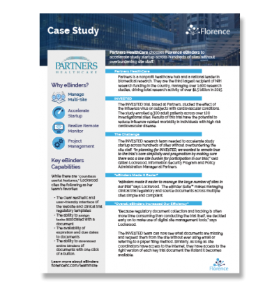 Case Study | Partners Healthcare - Invested | Florence