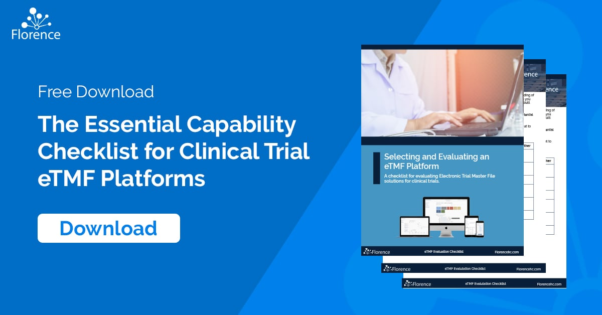 Electronic Trial Master File (eTMF) Capability Checklist