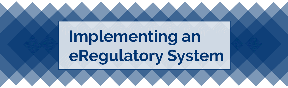 Implementing an eRegulatory System