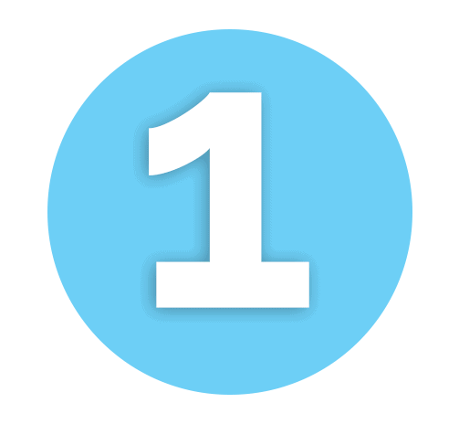 Number 1 Light Blue Icon