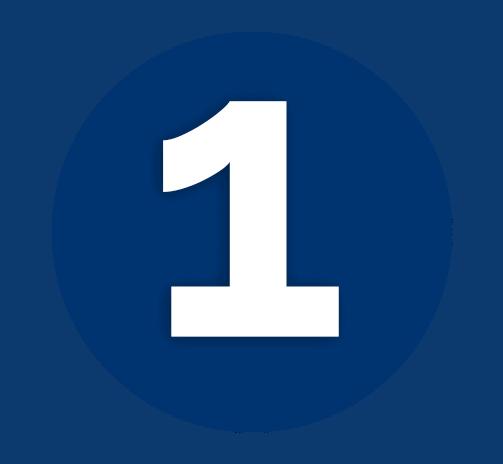 Dark Blue Number 1 Icon