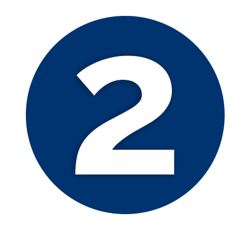 Dark Blue Number 2 Icon