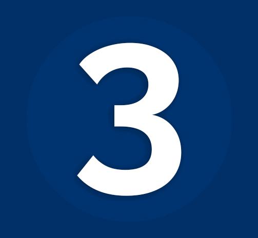 Dark Blue Number 3 Icon