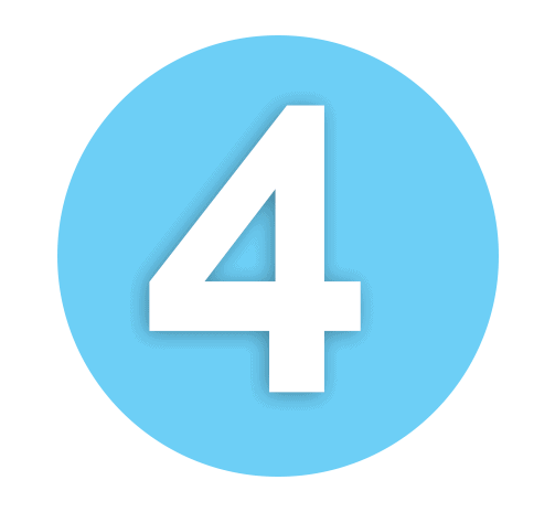 Number 4 Light Blue icon