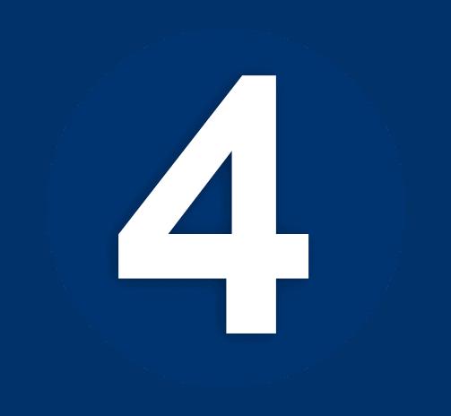 Dark Blue Number 4 Icon