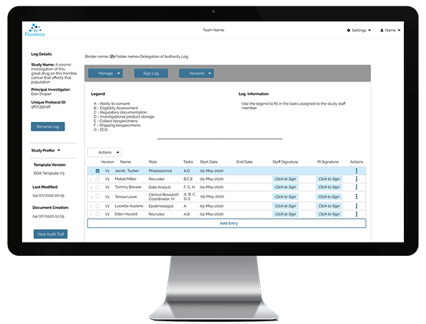 Remote Monitoring with Florence eBinders for eRegulatory, eSource, and eISF